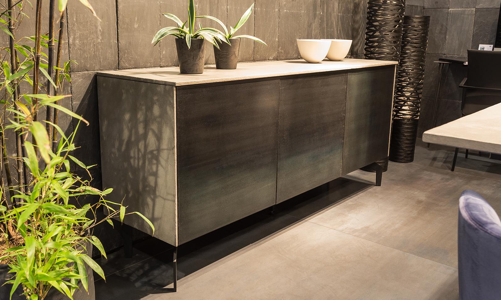 Verzauberkunst Sideboard 180 Beste Wahl Concrete Coating / Steel